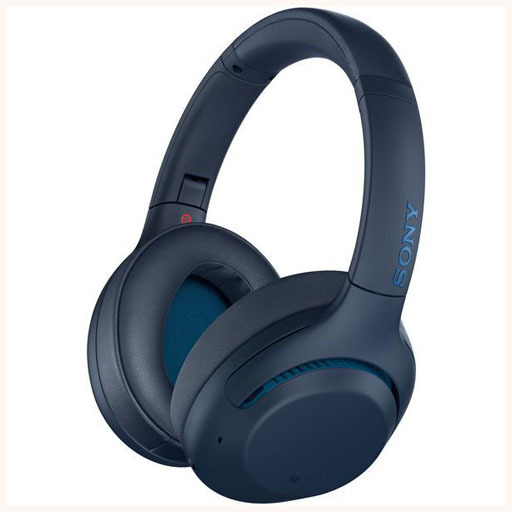 Sony Wireless Noise Canceling Stereo Headset (Blue) [WH-XB900N (L)]