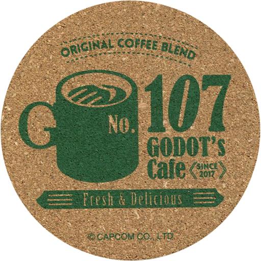 "GODOT 's Cafe Pattern Cork Coaster ""CAPCOM CAFE x Reverse Trial"""
