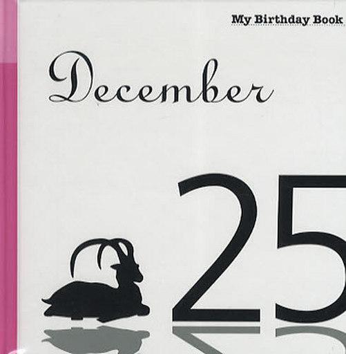 My birthday book December 25