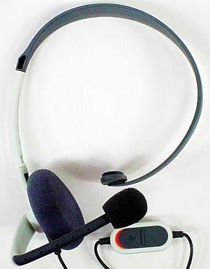 Headset (Xbox 360) (volume adjustment dial & mute switch position change version)