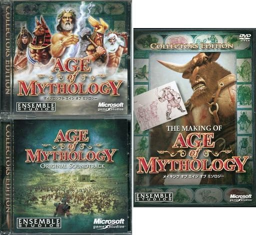 Age of Mythology collector's edition (status : game disc + original soundtrack CD + making DVD only)