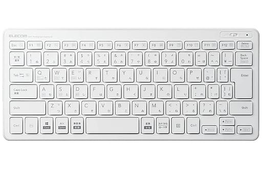 Bluetooth3.0 Pantograph Mini Keyboard (White) [TK-FBP100WH]