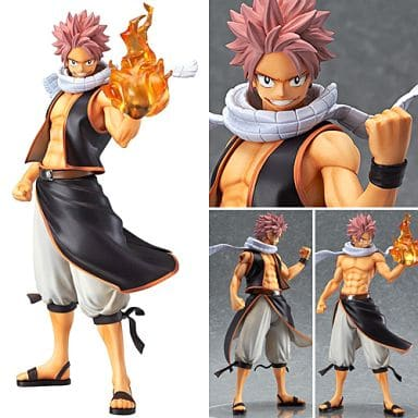 Fairy Tail Japanese Anime Natsu Dragneel Painted PVC Figure 23cm New in Box
