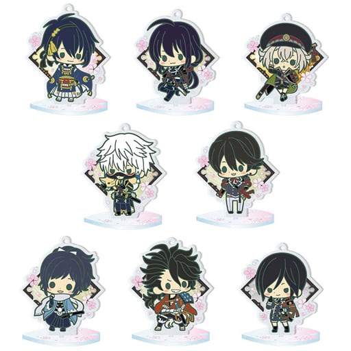 "All 8 types set ""es series nino trading acrylic stand Touken Ranbu -ONLINE- 1st unit"""