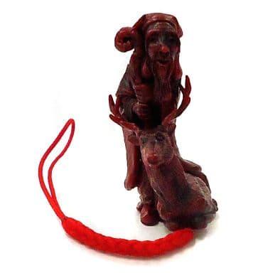 Jurojin, one of the Seven Lucky Gods (red) 「 Fukujin Netsuke 」