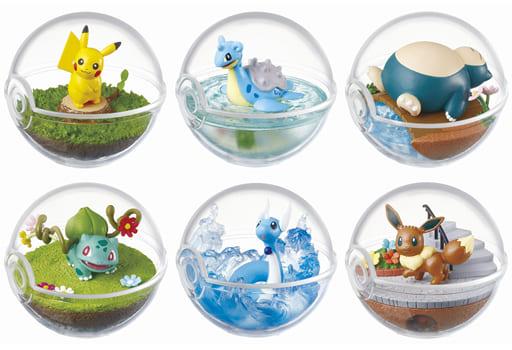"""All 6 types """"Pokémon Terrarium Collection"""""""