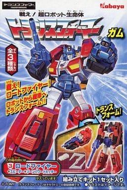 "3. Roadfire + Speeder + Zone Powered Cutter ""Fight! Super Robot Life Transformer Gum 6th"""