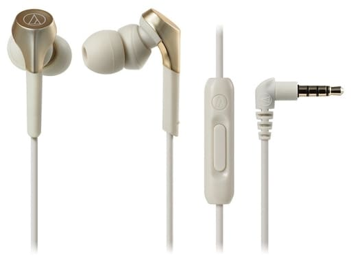 Audio-technica SOLID BASS Smartphone Inner Ear Headphones (Champagne Gold) [ATH-CKS550XiS CG]