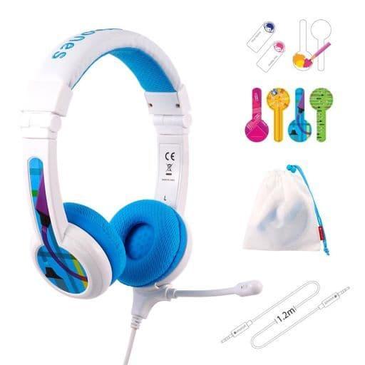 Onanoff Children's Headphone BuddyPhones School + (Blue) [BuddyPhones School + Blue]
