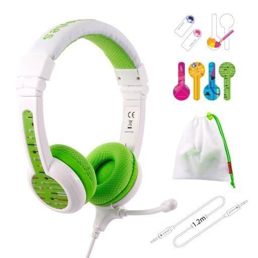 Onanoff Children's Headphone BuddyPhones School + (Green) [BuddyPhones School + Green]