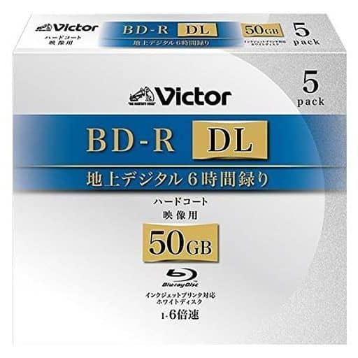 Victor BD-R DL for Recording 50 gb 5 Pack [BV-R260LW5]