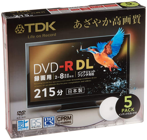 TDK DVD-R DL for recording 8.5GB 5 pack [DR215DPWB5S]