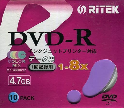 RITEK Data DVD-R 8 x 4.7 gb 10 Pack [D-R8X10PXN]