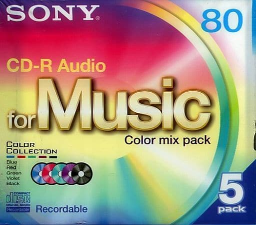 Sony CD-R Audio for Music Color Mix pack 5 pieces [5CRM80CRAX]
