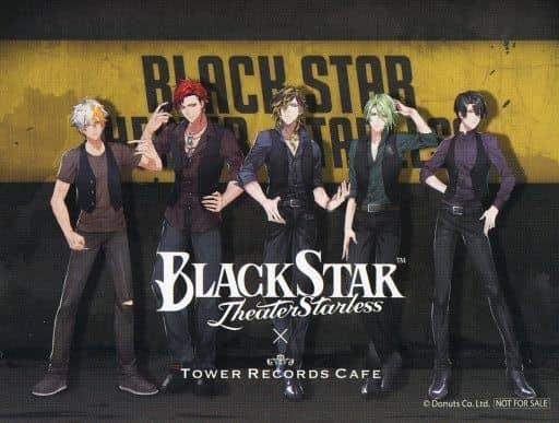 Kei & Kokuyo & Lindau & Mizuki & purple magnolia original sticker 「 Blackstar -Theater Starless - ×TOWER RECORDS CAFE 」 cafe reservation privilege