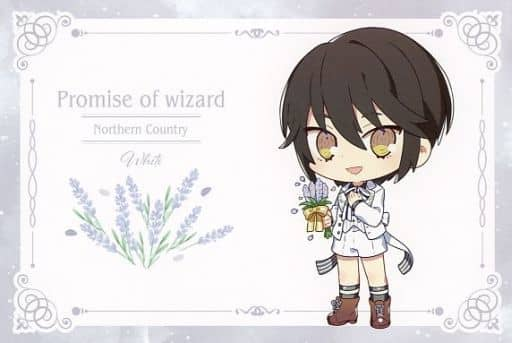 White Original Postcard 「 Wizard's Promise ×SWEETS PARADISE 」 Goods Purchase benefits