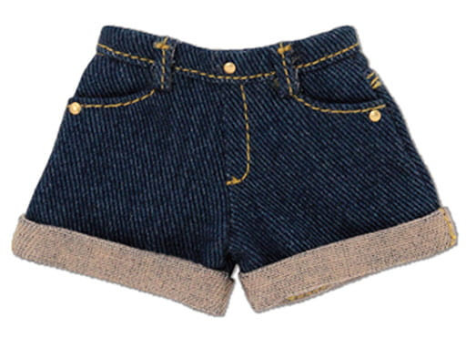 1/6 PNS Denim Roll-Up Shorts (Navy)