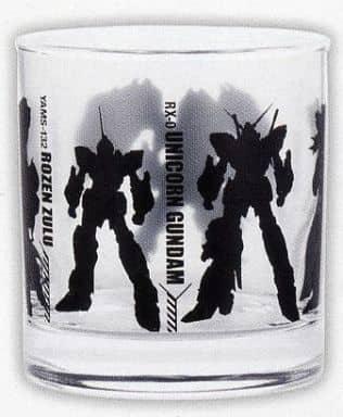 Silhouette rock glass 「 Ichiban KUJI MOBILE SUIT GUNDAM UC 」 L Award