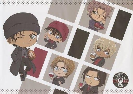 Gathering (Mini Character) Original Luncheon Mat 「 Detective Conan Shuichi Akai Cafe Scarlet Edition Special Bonus for 」