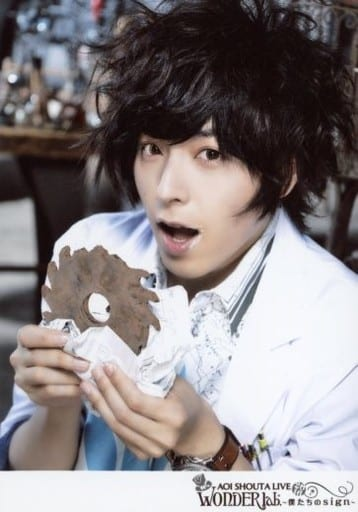 Shouta Aoi / Bust Up / White Coat / Both Gears / Paper / Mouth Opening / 「 Shouta Aoi LIVE 2016 WONDER lab. ~ Our Sign ~ 」 Venue Limited Sale Bromide C Set