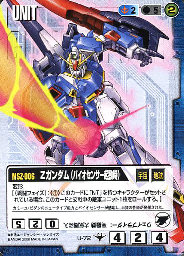 U-72 : Z Gundam (at biosensor startup)