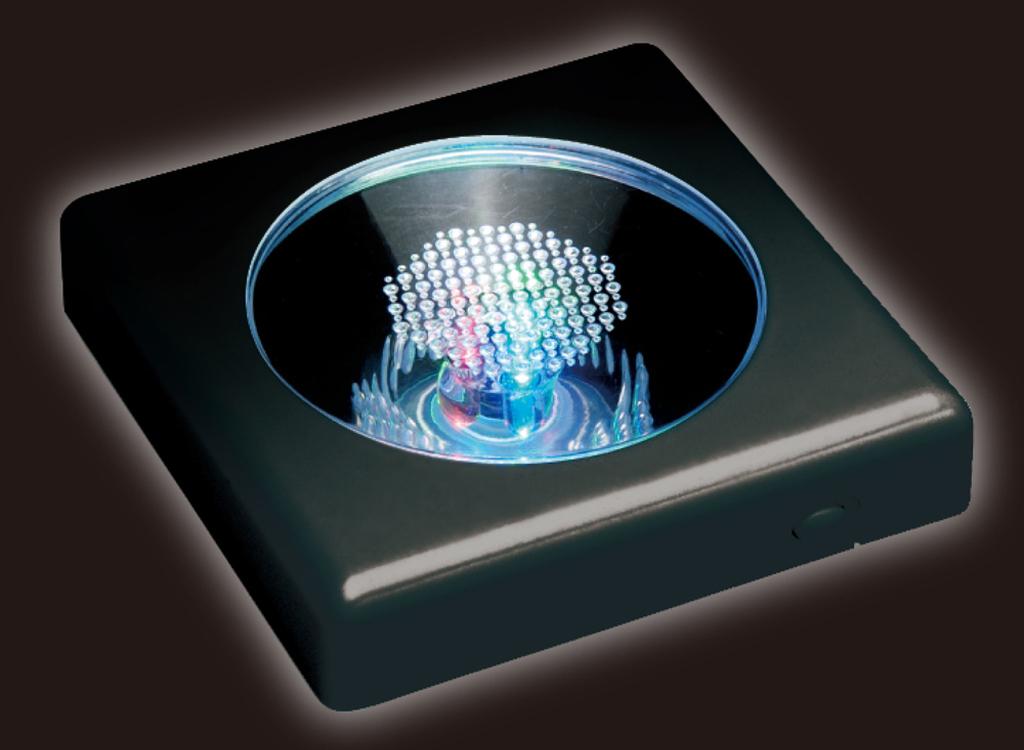 Crystal puzzle display light / black [LED - 002]