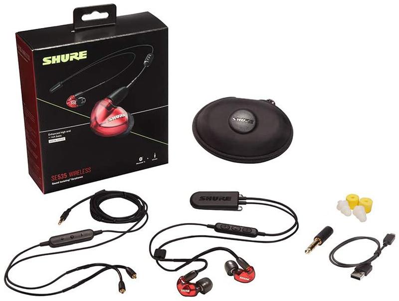 SHURE Wireless Earphone BT2 Series (Red) [SE535LTD+BT2-A]