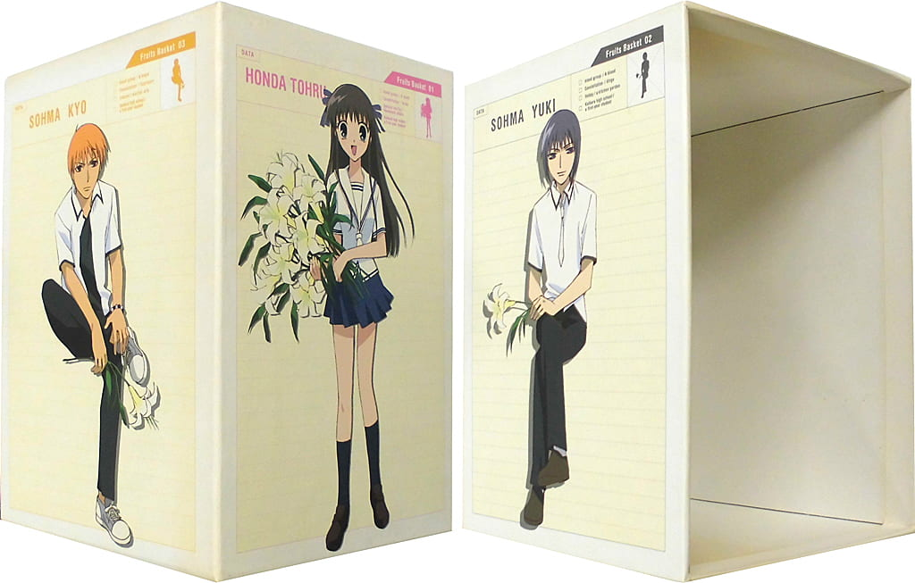 Inadequacy) Fruit basket limited edition BOX with all 9 volumes set (condition: trading card shortage of volume 2, dirt and burnt in all 9 volumes storage BOX)