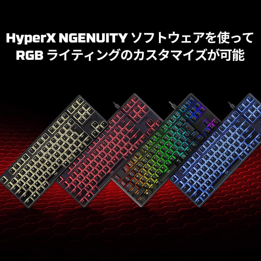 Wired RGB Mechanical Gaming Keyboard HyperX Alloy Origins Core Red Axis (Black) [HX-KB7RDX-JP]