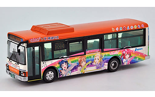 """1/80 JH 032 Tokai Bus Orange Shuttle Love Live! Sunshine !! Wrapping Bus 2nd Car """"The Bus Collection 80"""" [292197]"""