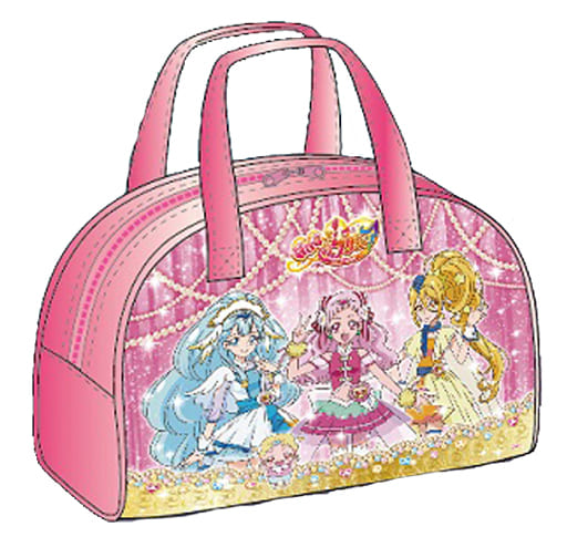 """Gold Odekake Boston bag """"HuG! Pretty Cure"""""""
