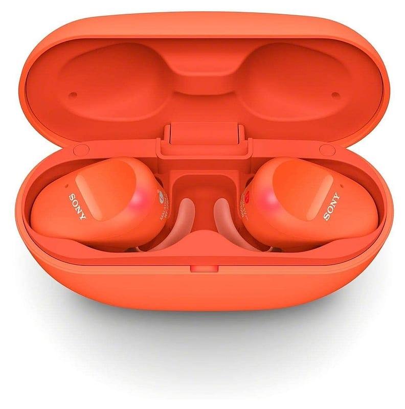 Sony Wireless Noise Canceling Stereo Headset (Orange) [WF-SP800N(D)]