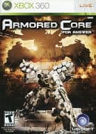 North America version ARMORED CORE FOR ANSWER (domestic version cannot operate)