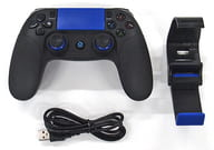 Wireless game controller with mobile bracket (Black + Blue) [8718]