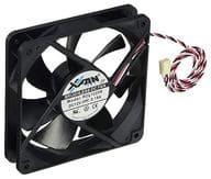 PC fan X-FAN DC fan motor 1700rpm 120mm angle 25mm thickness [RDL1225SBK]