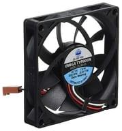PC Fan OMEGA TYPHOON 80 mm Square 15 mm Thick Ultra-Quiet Type [CFZ-8015SA]