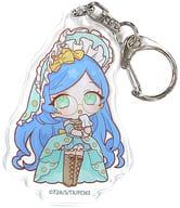 Aoba Rinka 「 Kiratto Pri Chan Acrylic Key Holder 06. Wonderland ver. Mini Character 」