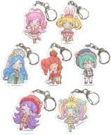 "7-Variety Set ""Kiratto Pri Chan Acrylic Key Holder 06. Wonderland ver. Mini Character"""