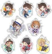 Set of 8 Kinds 「 Detective Conan Trading Acrylic Key Holder Pyon Character 」