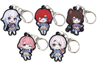 Set of 5 Kinds 「 virtual YouTuber Nijisanji x Wendy's First Kitchen Trading Rubber Strap 」