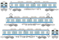 1/150 Tobu Railway 800 Type 804 Train 3 Car Set 「 Railway Collection 」 [303121]
