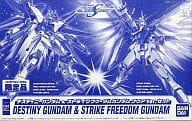 "1/144 ZGMF-X42S Destiny Gundam & ZGMF-X20A Strike ZGMF-X10A Freedom Gundam Clear Ver. Set ""MOBILE SUIT GUNDAM SEED DESTINY"" Limited Edition to Bandai Museum"