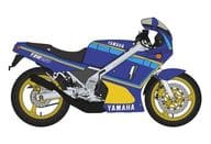 1/12 Yamaha TZR250 1 kt (faraway blue) [21737]