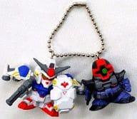 Gundam GP-02A Sissaris & Rick Dom Double Type Key Holder Part 3 「 SD Gundam 」
