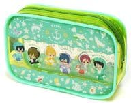 "Blue Clear Pouch ""Taito Kuji Honpo Free! - Eternal Summer - Marine morning"" Clear Pouch Award"
