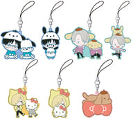 "All seven sets ""Yuri !!! on ICE × Sanrio Characters Rubber Strap Collection"""
