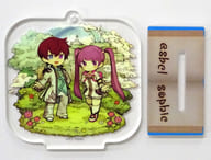 Asbel & Sophie (Lineage to the Future) 「 Tales of Graces F Character Actor Chronicle Trading Acrylic Stand Key Holder 」