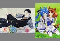 Double-sided B2 2 Poster (Octagonal Fold) Kobe Daisuke / Twin Turbo & Nice Nature 「 Fukoku Chiji Balance : UNLIMITED / Uma Musume Pretty Derby Season2 」 Animage August 2021 Appendix