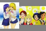 Double-sided B2 Poster (Yatsugiori) Rika Furude & Satoko Houjou / Gathered 「 WHEN THEY CRY Class / Wonder Egg Priority 」 Monthly New Type, August 2021 Appendix