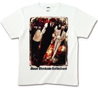 "Leonardo & Claus & Zapp Full Color T-shirt White S size ""Blood Blockade Front"""